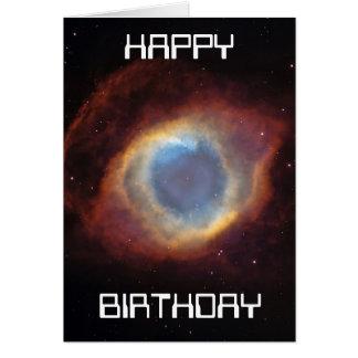 tarjeta de cumpleaños de la nebulosa de la hélice