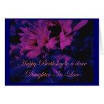 Tarjeta de cumpleaños de la nuera de los crisantem