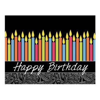 Tarjeta de cumpleaños de la oficina con las velas postales