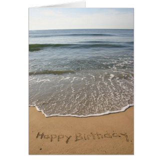 Tarjeta de cumpleaños de la orilla del jersey