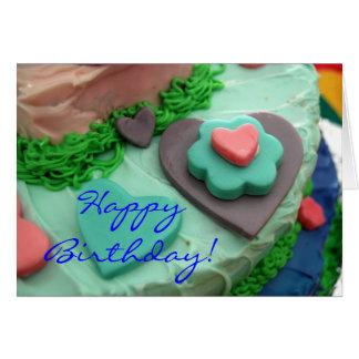Tarjeta de cumpleaños de la pasta de azúcar