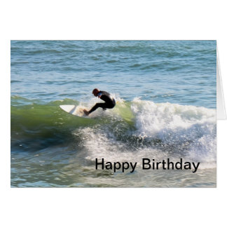 Tarjeta de cumpleaños de la persona que practica s