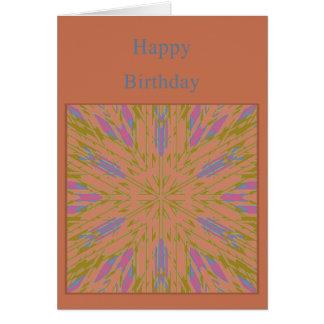 Tarjeta de cumpleaños de la plantilla con la explo