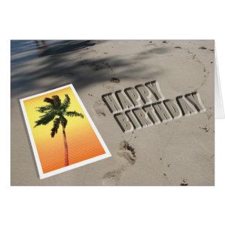 Tarjeta de cumpleaños de la playa