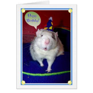 Tarjeta de cumpleaños de la rata
