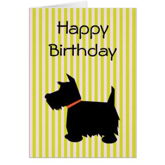 Tarjeta de cumpleaños de la silueta del perro de T