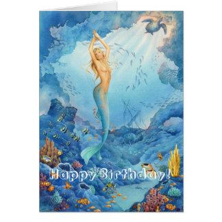 "Tarjeta de cumpleaños de la ""sirena coralina"""