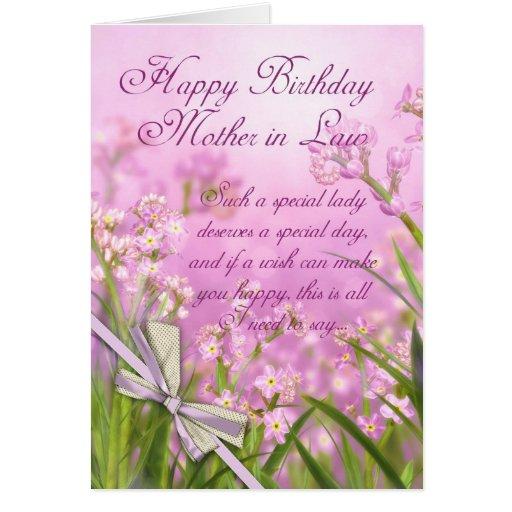Tarjeta de cumpleaños de la suegra - floral femeni