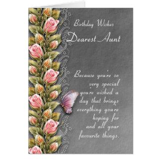 tarjeta de cumpleaños de la tía - tarjeta de cumpl