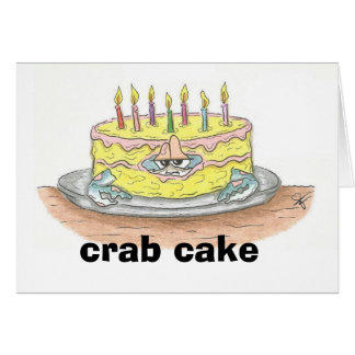 Tarjeta de cumpleaños de la torta de CANGREJO