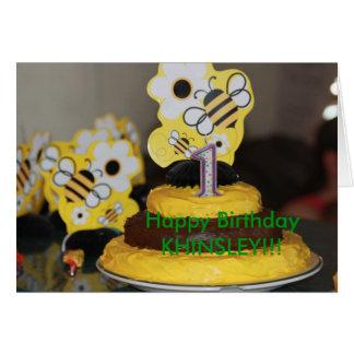 Tarjeta de cumpleaños de la torta de cumpleaños