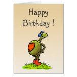 tarjeta de cumpleaños de la tortuga