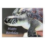Tarjeta de cumpleaños de la tortuga de mar del
