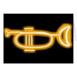 Tarjeta de cumpleaños de la trompeta