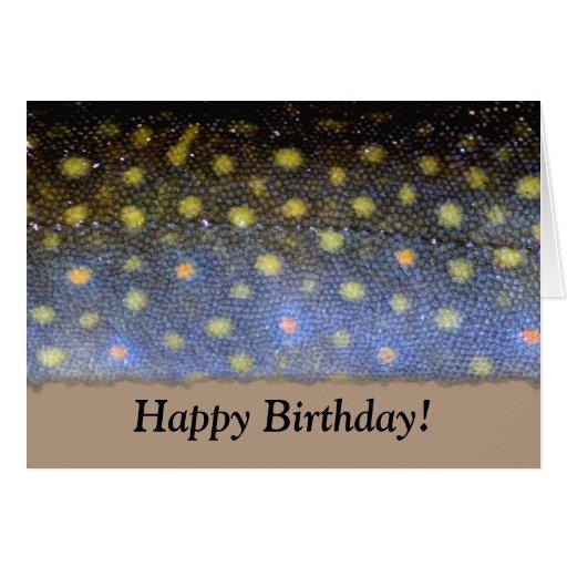 Tarjeta de cumpleaños de la trucha de arroyo