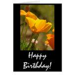 Tarjeta de cumpleaños de las amapolas