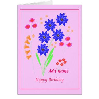 Tarjeta de cumpleaños de las flores
