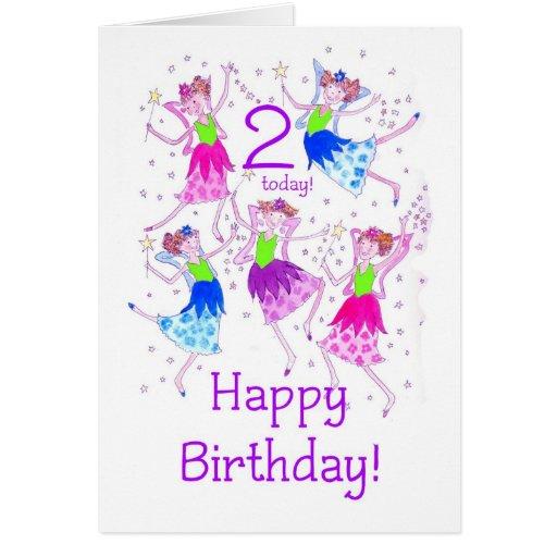 """Tarjeta de cumpleaños de las """"hadas"""" para los 2"""