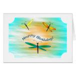 Tarjeta de cumpleaños de las libélulas