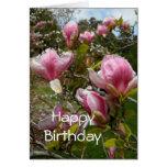Tarjeta de cumpleaños de las magnolias