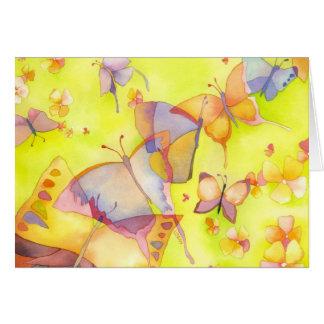 Tarjeta de cumpleaños de las mariposas de abril