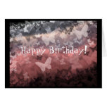 """Tarjeta de cumpleaños de las """"mariposas rosadas os"""