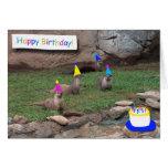 tarjeta de cumpleaños de las nutrias del fiesta