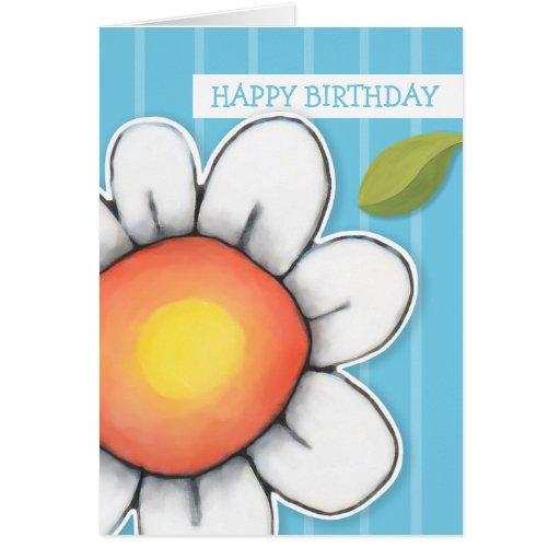 Tarjeta de cumpleaños de las rayas azules de la al