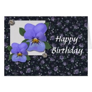 Tarjeta de cumpleaños de las violetas (ampliación