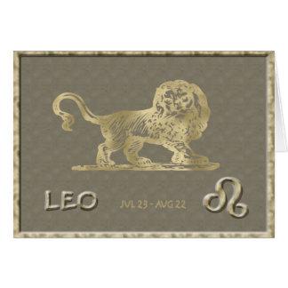 Tarjeta de cumpleaños de Leo
