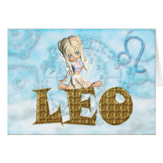 Tarjeta de cumpleaños de Leo linda