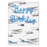Tarjeta de cumpleaños de los aeroplanos