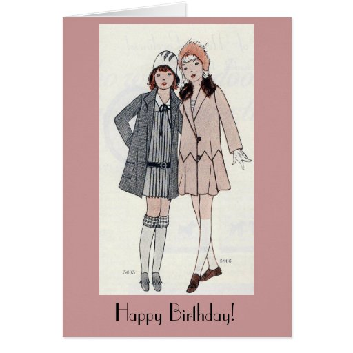 Tarjeta de cumpleaños de los amigos de los años 20