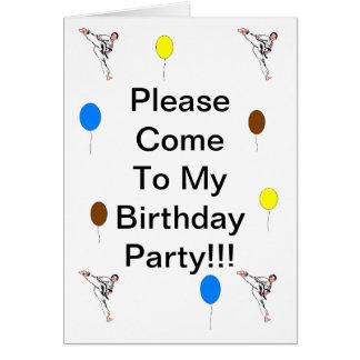 Tarjeta de cumpleaños de los artes marciales
