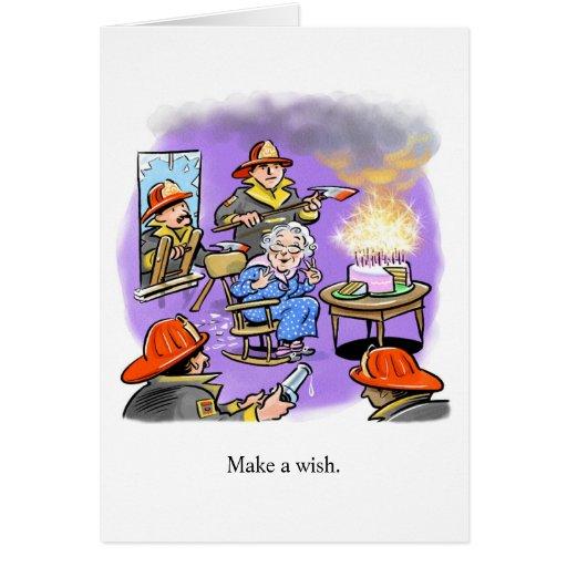 Tarjeta de cumpleaños de los bomberos