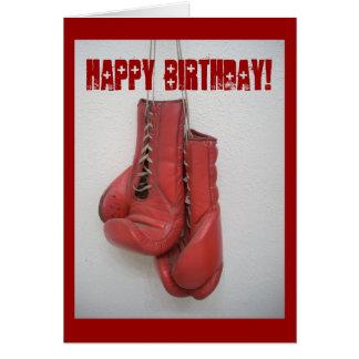 Tarjeta de cumpleaños de los guantes de boxeo