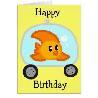 Tarjeta de cumpleaños de los pescados 2 0