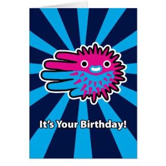 Tarjeta de cumpleaños de los pescados del fumador