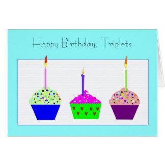 Tarjeta de cumpleaños de los tríos