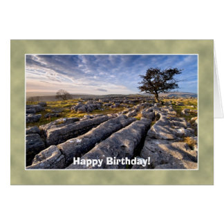 Tarjeta de cumpleaños de los valles de Yorkshire