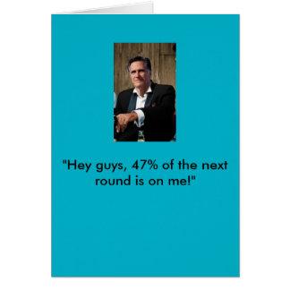Tarjeta de cumpleaños de Mitt Romney
