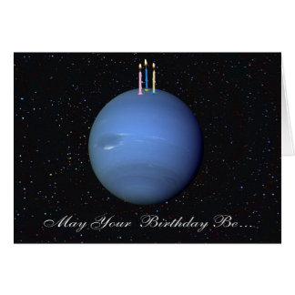 Tarjeta de cumpleaños de Neptuno del planeta
