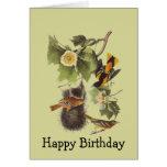 Tarjeta de cumpleaños de Oriole de los pájaros de