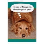 Tarjeta de cumpleaños de oro divertida del golden