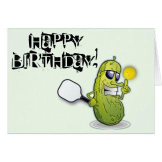 Tarjeta de cumpleaños de Pickleball