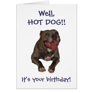 Tarjeta de cumpleaños de Pitbull del perrito
