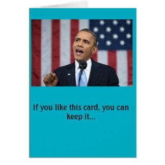Tarjeta de cumpleaños de presidente Obama