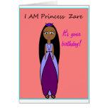 Tarjeta de cumpleaños de princesa Zare
