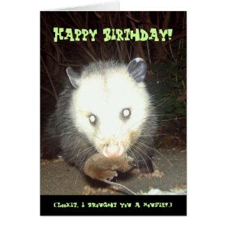 Tarjeta de cumpleaños de Psychopossum