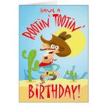 Tarjeta de cumpleaños de Rootin Tootin